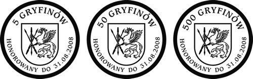 Dukat lokalny GRYFINY - awers